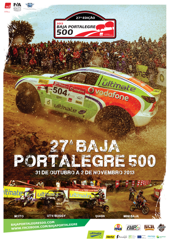 [PORTUGAL] 27ª Baja Portalegre 500 (31 oct - 2 nov 2013)  Cartaz_Baja_575